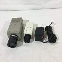 Lot Of (2) Vintage Color Video Cameras CCD Surveillance JVC TK-1280U Com... - $49.49