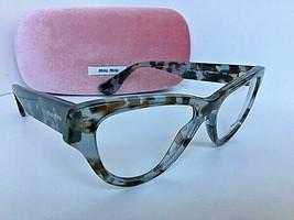 New Miu Miu VMU 10N UAH-101 52mm Gray Tort Cats Eye Women's Eyeglasses Frame - $224.99