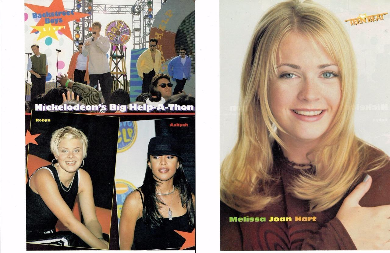Aaliyah Robyn Backstreet Boys Melissa Joan Hart teen magazine pinup clippings
