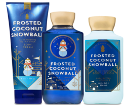 Bath & Body Works Frosted Coconut Snowball Trinity Gift Set  - $36.21