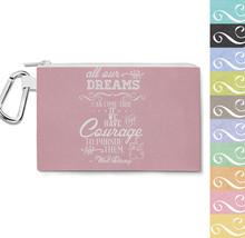 Dreams Can Come True Walt Disney Quote Canvas Zip Pouch - $15.99+