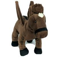"Russ Brown Horse Zipper Purse Plush Stuffed Animal 13"" Tall - $33.06"