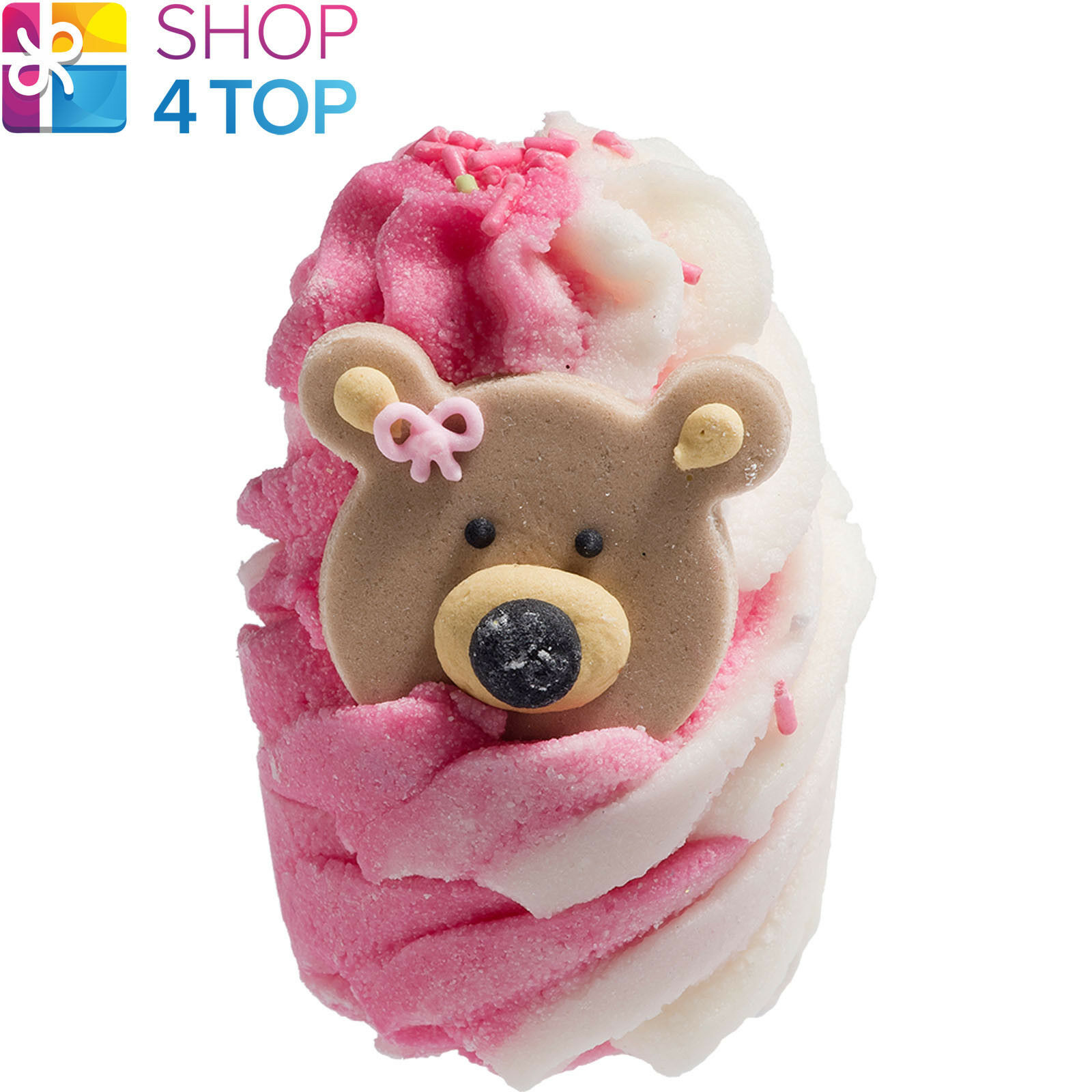 Primary image for TEDDY BEAR PICNIC BATH MALLOW BOMB COSMETICS STRAWBERRY HANDMADE NATURAL NEW
