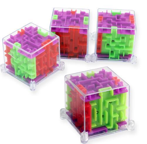 Mini 3D stereo maze puzzle, ball balance balance training hand-eye coordination