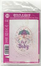 Vintage Needlecraft Stitch A Card Counted Cross Stitch Kit U Pick Baby K... - $11.85