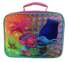 Brand New DreamWorksTrolls 7.5 Rectangular Lunch Bag with Doll image 1