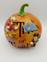 Jim Shore Enesco Trick Or Treat With Mickey & Donald w Box - $123.70