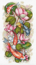 Cross Stitch Embroidery Kit Koi  - $39.65