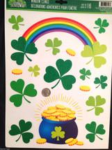 Lucky Irish POT-O-GOLD RAINBOW SHAMROCKS CLINGS Party Mirror Window Deco... - €3,40 EUR