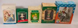 Vintage Lot of 5 Christmas Ornaments 3Hallmark & 2 Enesco Ornaments - $11.87
