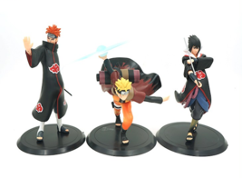Popular Japanese Anime Naruto Action Figures, Set of 3 Figures - $20.99
