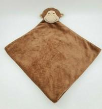 Angel Dear Monkey Head Baby Blanket Lovey Tan Velour Security Brown B350 - $24.99
