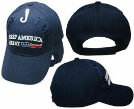 President Trump 2020 Hat Keep America Great Navy Blue USA Front Embroide... - $21.77