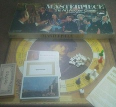 Masterpiece The Art Auction Board Game Parker Brothers 1970 Complete - $24.70