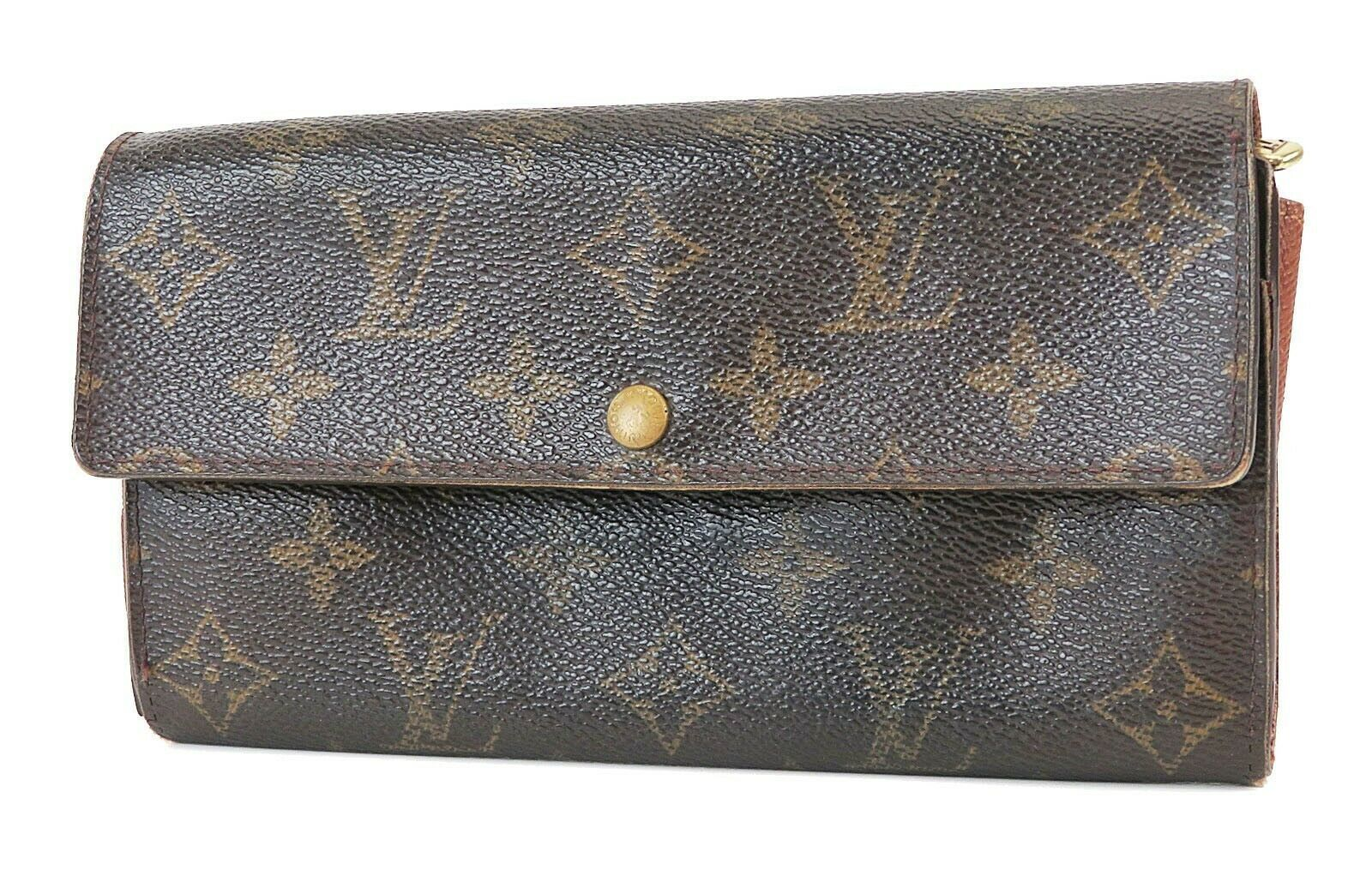 Primary image for Authentic LOUIS VUITTON Sarah Long Wallet Monogram Zippered Coin Purse #38155