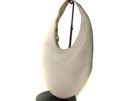 Authentic BVLGARI Ivory Leather Shoulder Bag BB12153L - $149.00