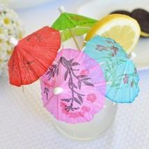 60 Mini Umbrellas Parasol Toothpicks Cocktail Party Pick Tropical Drink ... - $7.99