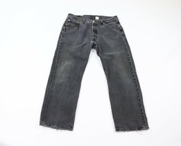 Vtg 90s Levis 501xx Mens 34x29 Straight Leg Button Fly Distressed Jeans ... - $44.50