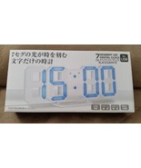 """LED CLOCK Black with Red Numbers Brand New 9"""" JAPAN IMPORT TOREBA - $34.99"""