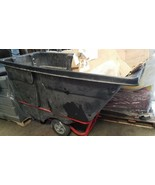 1250 lb Capacity Tilt Truck Cart Rolling Trash Bin Rubbermaid 1 Cu. Yard - $650.20