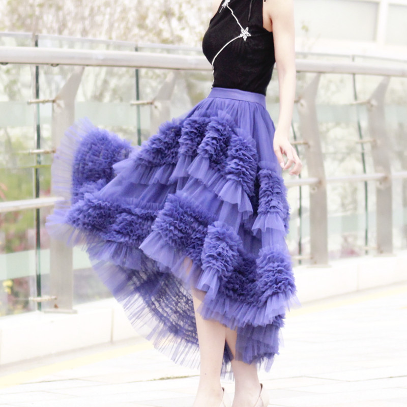 High-low Layered Tulle Skirt Outfit Plus Size Wedding Outfit Tiered Tulle Skirt