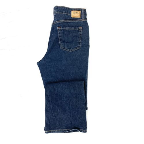 Primary image for Levi Signature Women's At Waist Bootcut Jean Size 12 Dark Wash Stretch Zip Fly