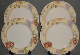 Set (4) Noritake Homecraft Fruit Canyon Pattern Dinner Plates Made In Korea - $138.59
