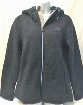 THE NORTH FACE Men's USED Gray & Blue Zermatt Full Zip Hoodie Wool Blend... - $80.74