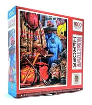 1000 Piece Puzzle Masterpieces Hometown Heroes 26 in x 19 in FIRE and RE... - $21.80