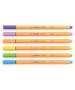 Stabilo Point 88 Fineliner Pigment Liner - Pastel Set of 6 pens - $9.82
