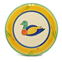"""Duck Large Trivet  Small Cake Plate Hand Painted Portugal 10.5"""" - $28.50"""