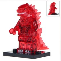Transparent Fire Red Godzilla King of the Monsters Lego Minifigures Toy ... - $2.99