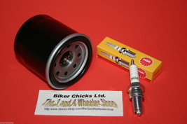 KAWASAKI 03-12 KVF360 Prairie Tune Up Kit NGK Spark Plug & Oil Filter - $16.45