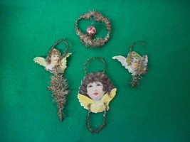 Vintage Victorian Hand Made Christmas Ornaments - $35.59