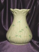 """Vintage Belleek Large 9"""" Clover Shamrock Porcelain Vase  - $44.55"""