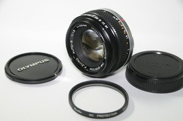 [As-is] OLYMPUS OM-SYSTEM F.ZUIKO Auto-S 50mm F1.8 W/ Filter From JAPAN - $86.13