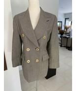 GIANFRANCO FERRE Studio 0001 Double Breasted Black Plaid Jacket 4 - $103.94