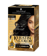 Schwarzkopf Keratin Color Anti-Age Hair Color Permanent #1.0 Jet Black - $9.38