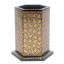 Handmade Decorative Black Desk Table Accessories Organizer / Stationery ... - $34.00