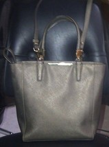 AUTH COACH MADISON SAFFIANO MINI SATCHEL CROSSBODY BAG PURSE 29001 BRONZ... - $86.44