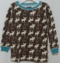 Mudpie Two Piece Lounge Set Size 4 T Moose Print 1012160 image 2