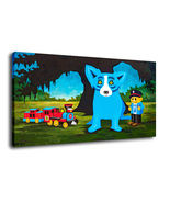 George Rodrigue Blue Dog Oil Painting Print On Canvas Home Decor Art G069 - $19.99+