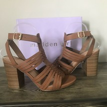 Madden Girl Reine Sandal Shoes Size 10 Brown Boho Block Heel Huarache NE... - $27.71