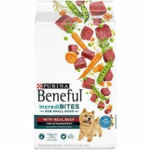 Premium Purina Beneful Small Breed Dry Dog Food, IncrediBites With Real Beef... - $33.65