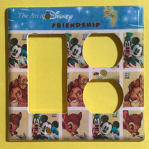 Art of Disney Friendship Stamps Light Switch Outlet Wall Cover Plate Home decor image 6