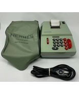 Hermes Adding Machine Precisa Sea Foam Green Switzerland Dust Cover Work... - $118.70