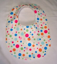 Clearance Baby Bib Dots Multicolor, Baby Bib Gender Neutral - $4.49