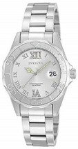 Invicta Women's Ladies Watch Pro Diver Quartz Stainless Steel Silver Tone New - $79.99