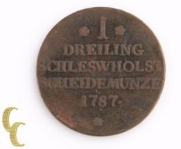 1787 German States, Schleswig-Holstein Dreiling (Fine+) Christian VII KM-116 - $79.20