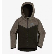 NIKE TECH FLEECE LITTLE KIDS BOYS HOODIE DARK STUCCO 86C335 X2L US YOUTH... - $49.49